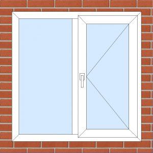 ПВХ  Окно  3-кам 58 мм Goodwin размер 1180*1180 мм. №103