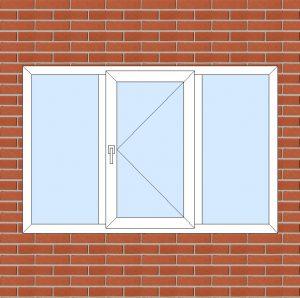 ПВХ  Окно  3-кам 58 мм Goodwin размер 1800*1180 мм. №105