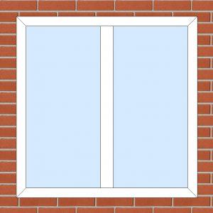ПВХ Окно 3-кам 58 мм Goodwin размер 1180*1180 мм. №106