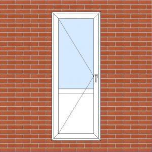 ПВХ  Балконная дверь  3-кам 58 мм Goodwin размер 800*2100 мм. №109