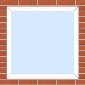ПВХ  Окно  3-кам 58 мм Goodwin размер 950*950 мм. №112