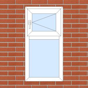 ПВХ  Окно  3-кам 58 мм Goodwin размер 600*1180 мм. №117