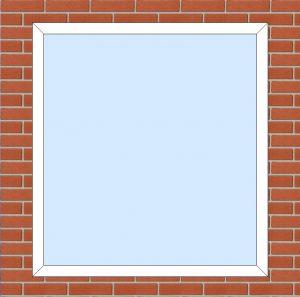 ПВХ  Окно  3-кам 58 мм Goodwin размер 1300*1400 мм. №119