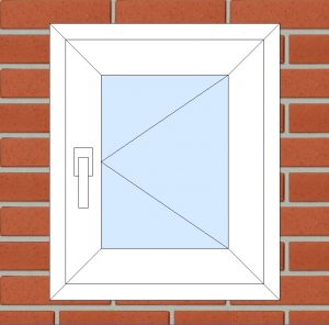 ПВХ Окно 3-кам 58 мм Goodwin размер 500*600 мм. №122