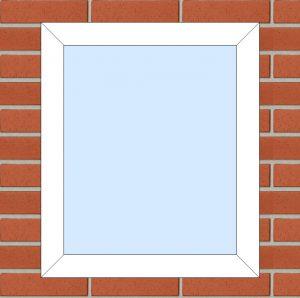 ПВХ Окно 3-кам 58 мм Goodwin размер 600*700 мм. №124
