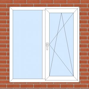 ПВХ  Окно  3-кам 58 мм Goodwin размер 1300*1400 мм. №128