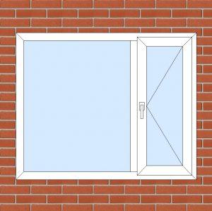 ПВХ  Окно  3-кам 58 мм Goodwin размер 1450*1180 мм. №130