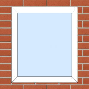 ПВХ Окно 3-кам 58 мм Goodwin размер 700*800 мм. №131