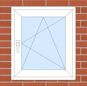 ПВХ Окно 3-кам 58 мм Goodwin размер 700*800 мм. №134