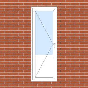ПВХ  Балконная дверь  3-кам 58 мм Goodwin размер 700*2000 мм. №139