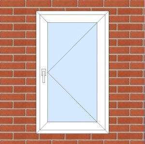 ПВХ  Окно  3-кам 58 мм Goodwin размер 700*1180 мм. №140