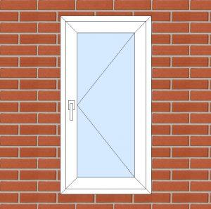 ПВХ  Окно  3-кам 58 мм Goodwin размер 600*1180 мм. №142