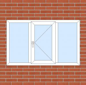 ПВХ  Окно  3-кам 58 мм Goodwin размер 1600*1000 мм. №104