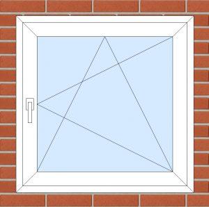 ПВХ Окно 3-кам 58 мм Goodwin размер 950*950 мм. №111