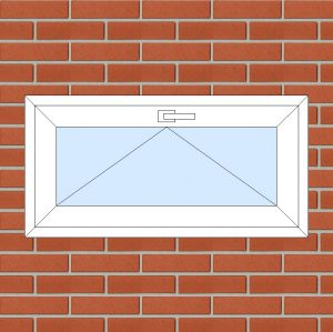 ПВХ Окно 3-кам 58 мм Goodwin размер 1000*500 мм. №113