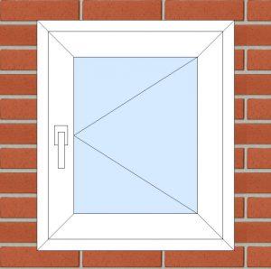 ПВХ  Окно  3-кам 58 мм Goodwin размер 600*700 мм. №123