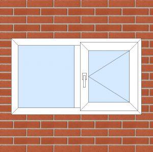 ПВХ Окно 3-кам 58 мм Goodwin размер 1200*700 мм. №127