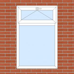ПВХ  Окно  3-кам 58 мм Goodwin размер 980*1500 мм. №129