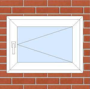 ПВХ Окно 3-кам 58 мм Goodwin размер 800*600 мм. №135