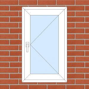 ПВХ Окно 3-кам 58 мм Goodwin размер 600*1000 мм. №138