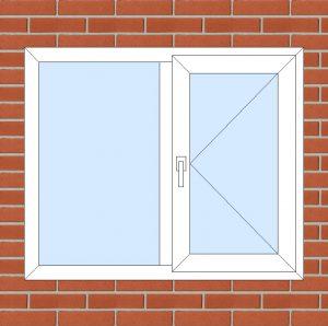 ПВХ  Окно  3-кам 58 мм Goodwin размер 1200*1000 мм. №151
