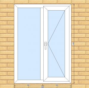 ПВХ Окно 3-кам 58 мм Goodwin размер 1000*1400 мм. №И8