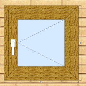 ПВХ  Окно  3-кам 58 мм Goodwin размер 600*600 мм. №Каш1