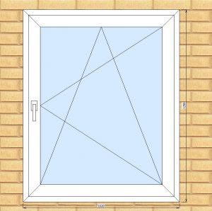 ПВХ  Окно  3-кам 58 мм Goodwin размер 1020*1250 мм. №НОВ2
