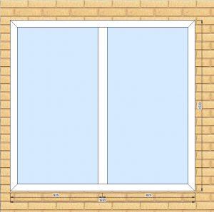 ПВХ  Окно  3-кам 58 мм Goodwin размер 1650*1530 мм. №1ТОШ