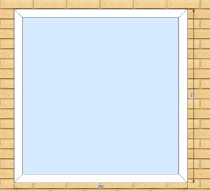 ПВХ Окно 3-кам 58 мм Goodwin размер 1300*1300 мм. №РОЯ1