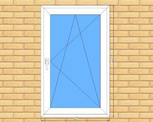 ПВХ  Окно  3-кам 58 мм Goodwin размер 820*1330 мм. №Вас1