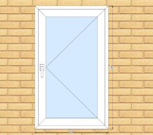 ПВХ  Окно  3-кам 58 мм Goodwin размер 745*1250 мм. №Гор1