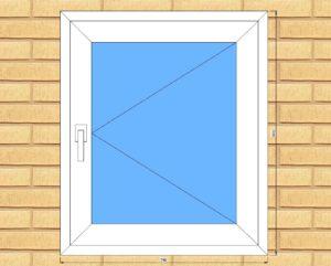 ПВХ  Окно  3-кам 58 мм Goodwin размер 740*870 мм. №Гор3