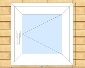 ПВХ  Окно  3-кам 58 мм Goodwin размер 620*620 мм. №Ян1