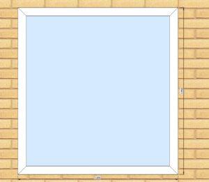 ПВХ  Окно  3-кам 58 мм Goodwin размер 1200*1250 мм. №Бог1