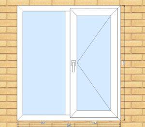 ПВХ  Окно  3-кам 58 мм Goodwin размер 1140*1270 мм. №2Мак
