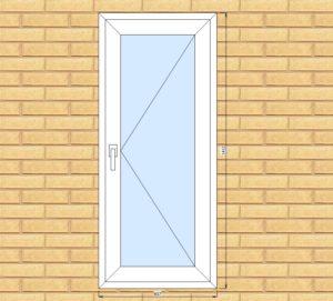 ПВХ  Окно  3-кам 58 мм Goodwin размер 607*1412 мм. №Игу1