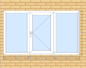 ПВХ  Окно  3-кам 58 мм Goodwin размер 1900*1100 мм. №Рег1