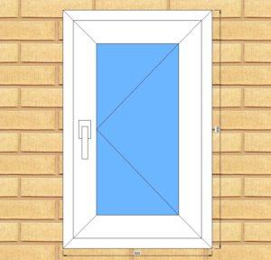 ПВХ  Окно  5-кам 70 мм Goodwin размер 500*800 мм. №Ян11